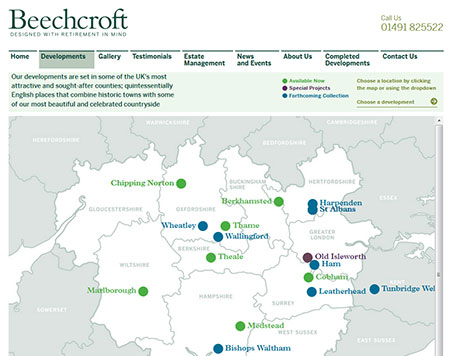 Beechcroft Retirement Developments website development & SEO